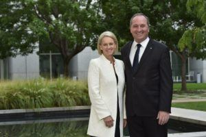 National Party group photo with leader Hon Barnaby Joyce and Deputy Sen Fiona Nash. Parliament House, Canberra 15 March 2016.File No Nationals_Joyce_160102. Image David Foote-AUSPIC/DPS
