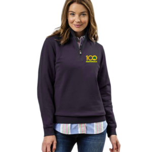 Women's Kate Zip Half Jumper Navy
